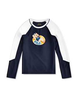 Ralph Lauren - Girls' Bear Rash Guard - Big Kid