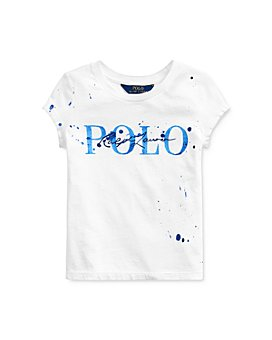 Ralph Lauren - Girls' Paint Print Logo Tee - Little Kid