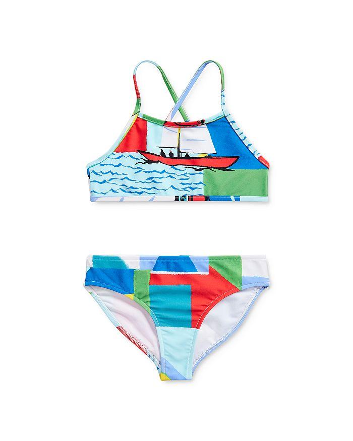 Ralph Lauren - Girls' Sailboat Print Two-Piece Swimsuit - Little Kid