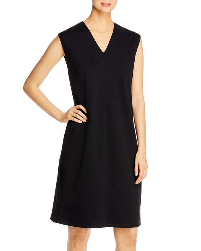 Eileen Fisher Petites - V-Neck Shift Dress