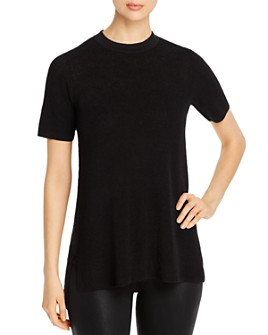 Eileen Fisher - Mock-Neck Short-Sleeve Tunic