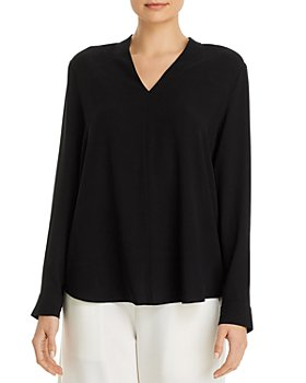 Eileen Fisher Petites - Petites Silk V-Neck Top