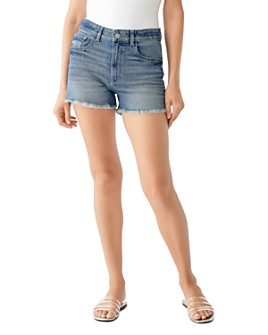 DL1961 - Cecilia Frayed Denim Shorts in Newton
