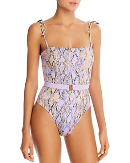 L*Space - Lockheart Printed One-Piece Swimsuit