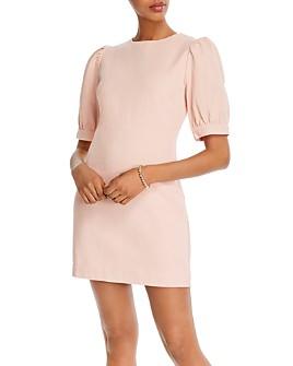 AQUA - Puffed-Sleeve Mini Dress