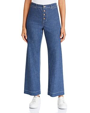 Lafayette 148 New York Clark Denim Ankle Pants in Retro Blue-Women
