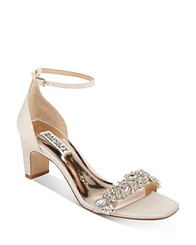 Badgley Mischka - Women's Jackie Embellished Mid-Heel Sandals