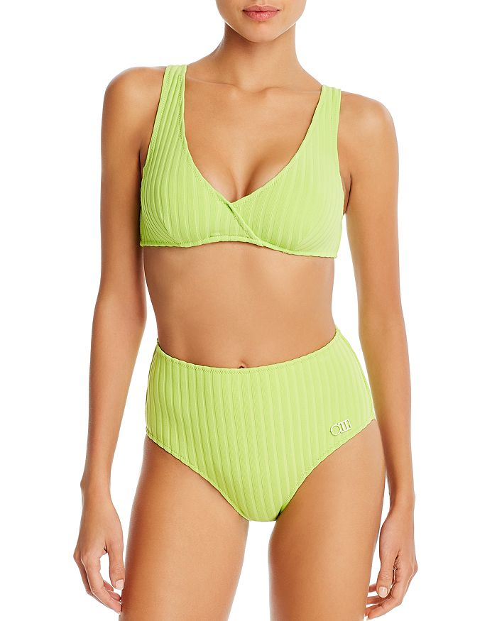 Solid & Striped - The Beverly Ribbed Bikini Top & The Beverly Ribbed High-Waist Bottom