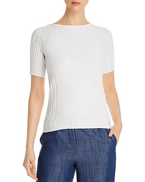 Emporio Armani Textured Short-Sleeve Sweater