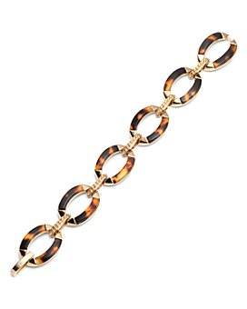 Ralph Lauren - Gold-Tone & Synthetic Tortoise Inlay Flex Bracelet