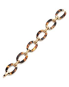 Ralph Lauren - Gold-Tone & Synthetic Tortoise Inlay Flex Bracelet
