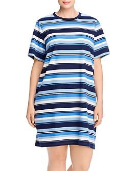 MICHAEL Michael Kors Plus - Court Striped Tee Dress