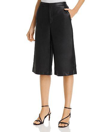 Lucy Paris - Faux-Leather Culotte Shorts - 100% Exclusive
