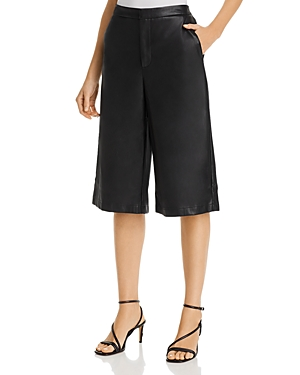 Lucy Paris Faux-Leather Culotte Shorts - 100% Exclusive