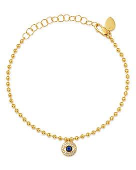 Meira T - 14K Yellow Gold Diamond & Sapphire Evil Eye Bracelet