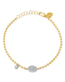 Meira T - 14K White & Yellow Gold Diamond Pavé Disc & Bezel Bracelet