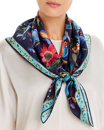 Salvatore Ferragamo - Tree Of Life Square Silk Scarf