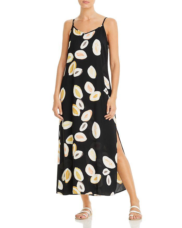 Nic And Zoe Nic+zoe Lemon Squeeze Maxi Dress In Black Multi