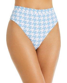 AQUA - Fall Voyage High-Leg High-Waist Bikini Bottom