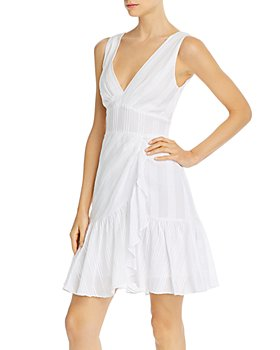Rebecca Taylor - Cotton Striped Tie-Back Dress