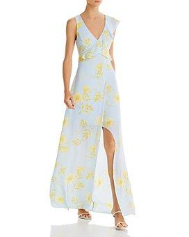 BCBGMAXAZRIA - Cutout Floral-Print Dress
