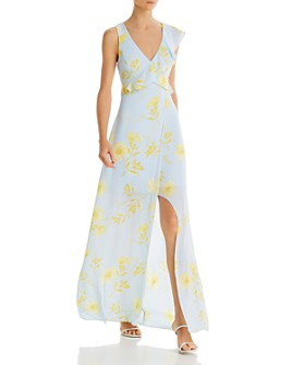 BCBGMAXAZRIA - Cutout Floral-Print Dress