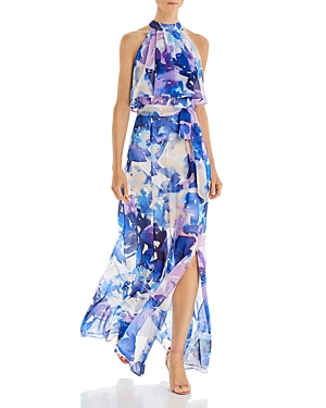 Eliza J Printed Popover Maxi Dress-Women