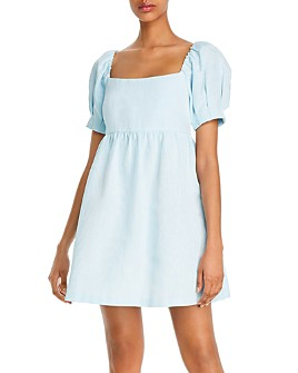 Alice and Olivia - Bauery Puffed Sleeve Babydoll Dress