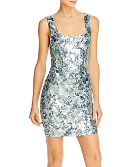 Alice and Olivia - Addie Sequin-Embellished Bodycon Mini Dress