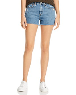 rag & bone - Dre Cotton Cutoff Denim Shorts in Misha Distressed