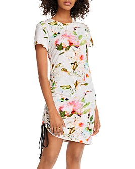 PAM & GELA - Floral-Print Side-Drawstring Dress