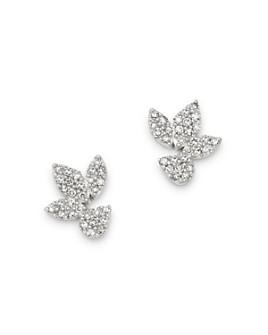 Adina Reyter - Diamond Pavé Multi-Cluster Stud Earrings in 14K Yellow Gold