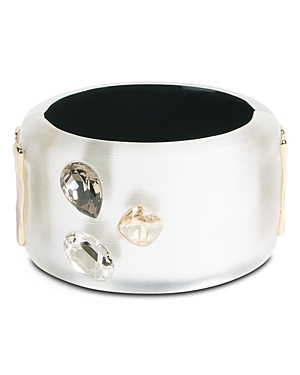Alexis Bittar Future Antiquity Triple Crystal Wide Bangle Bracelet