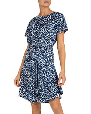 Gerard Darel Santana Animal Print Linen Dress-Women