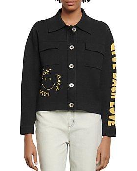 Sandro - Backy Shirt-Style Cardigan