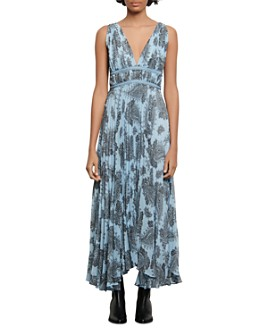Sandro - Beathe Paisley-Print Maxi Dress