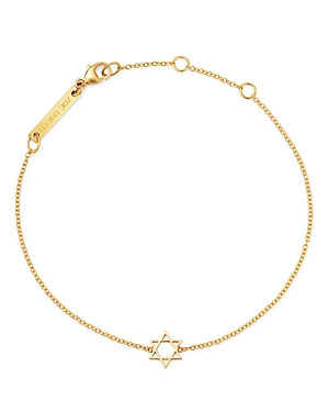 Zoe Chicco Midi Bitty Star Of David Centered Bracelet-Jewelry & Accessories
