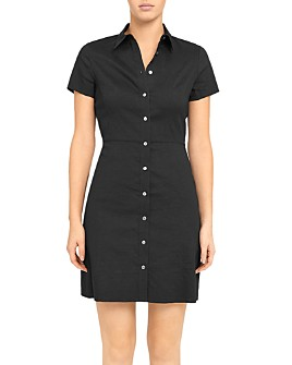 Theory - Button-Up Shirtdress