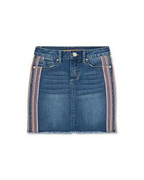 Joe's Jeans - Girls' Fray Embroidered Mid-Rise Denim Skirt