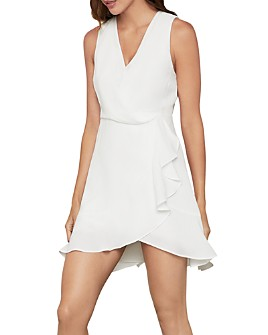 BCBGMAXAZRIA - Ruffled Wrap Dress