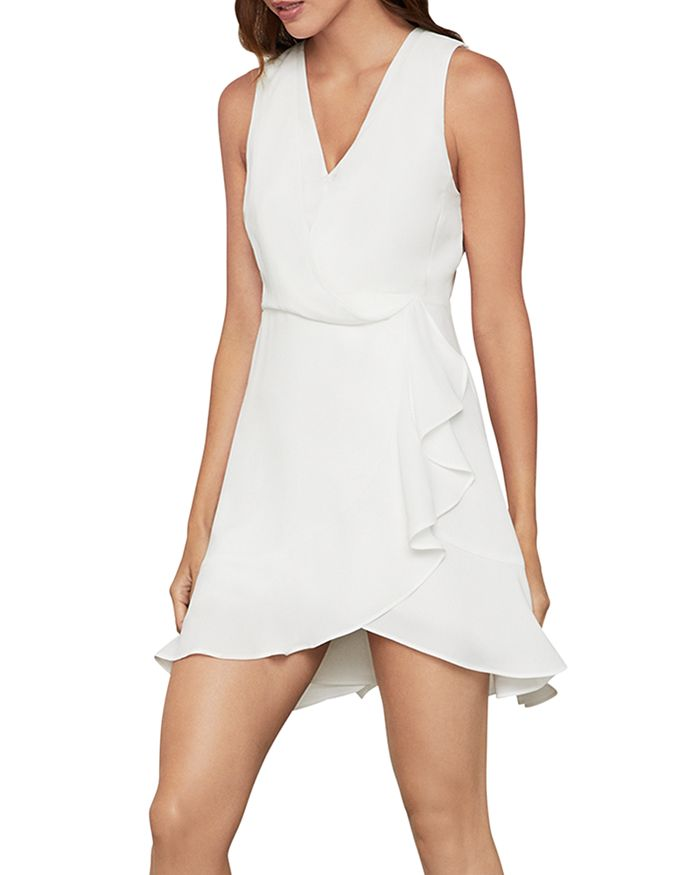 BCBGMAXAZRIA - Ruffled Wrap Dress