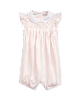 Ralph Lauren - Girls' Cotton Smocked Shortalls - Baby