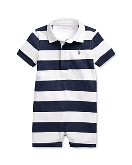 Ralph Lauren - Boys' Cotton Stripe Rugby Shortalls - Baby
