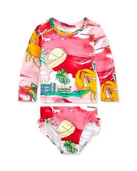 Ralph Lauren - Girls' Beach-Print Rash Guard & Ruffle-Trimmed Bottoms Set - Baby