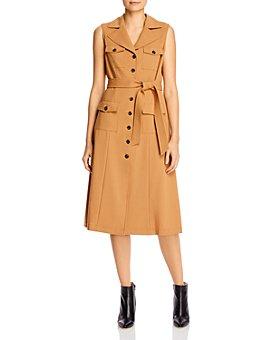 Calvin Klein - Cargo Button-Front Midi Dress