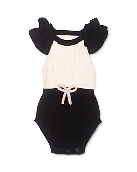 Tun Tun - Girls' Sophi Cotton Color-Blocked Knit Romper - Baby