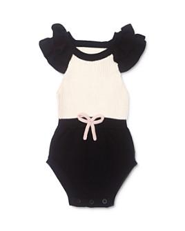 Tun Tun - Girls' Sophi Cotton Color-Blocked Knit Romper - Baby