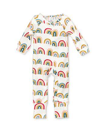 Oliver & Rain - Girls' Cotton Rainbow-Print Coverall - Baby