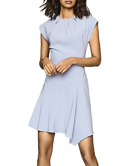 REISS - Belle Cap-Sleeve Asymmetrical Dress