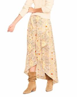 ba&sh - Hall Floral Print High/Low Skirt